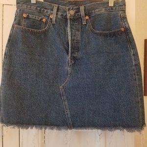 Levi's cutoff jean skirt